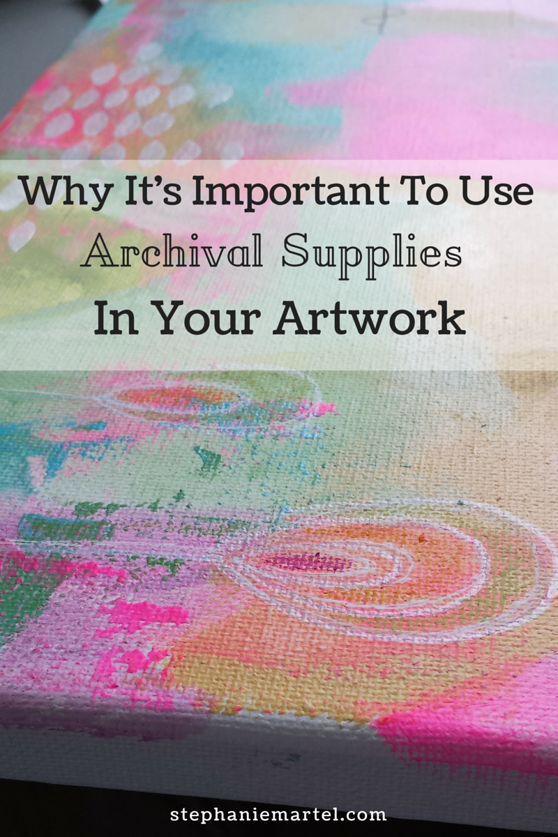Learn from my mistake! Click through to see my post on why it's important to use archival supplies in your artwork.