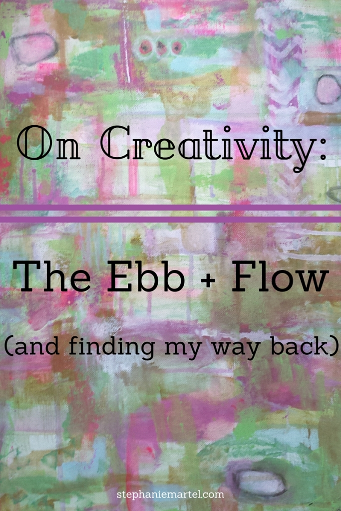 The Ebb + Flow of creativity can be frustrating. Click through to see the ways I'm finding my way back to the flow!