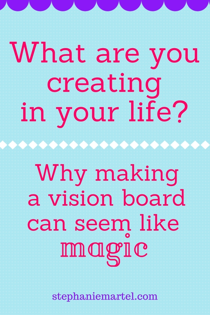 how to create a vision board and manifest what you want.