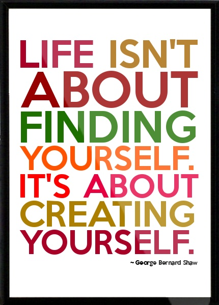 finding yourself or creating yourself-