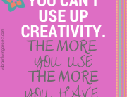 Use up creativity