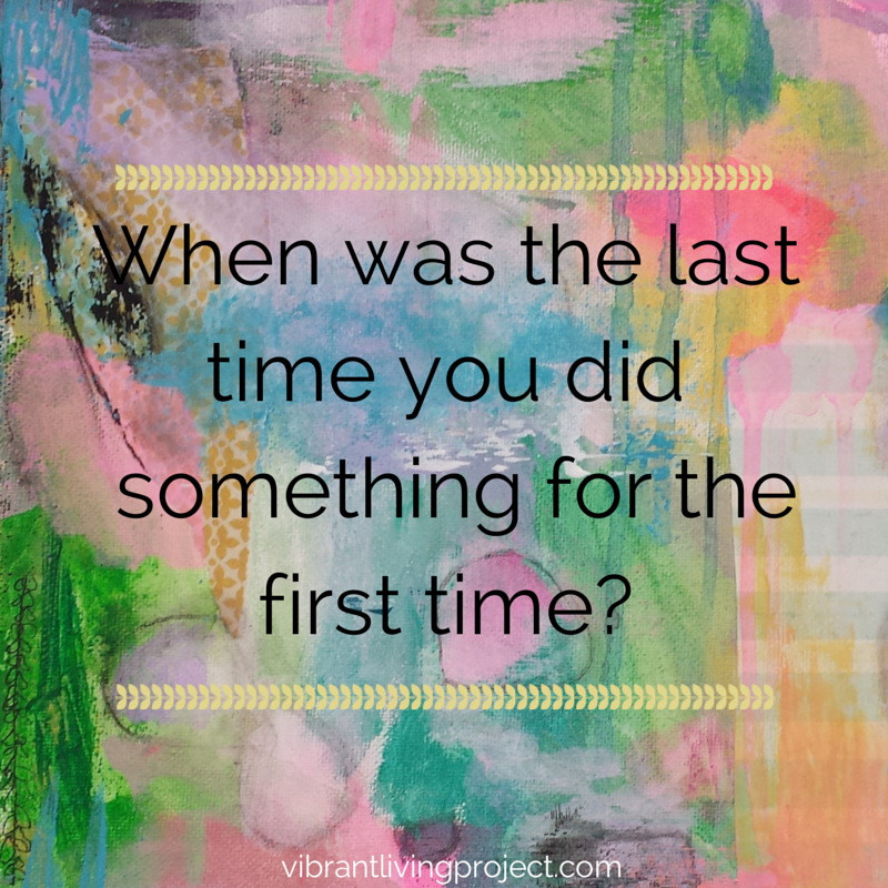 When was the last time you did something for the first time?  Click through for some tips on how to get through first times like a breeze!