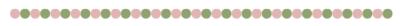 pink green balls line