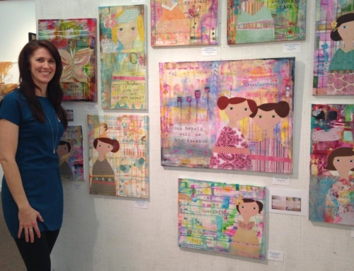 How I Started Painting {And Pictures From My Gallery Opening.}