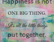 Happiness is not one big thing