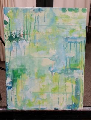 dream big art in progress painting