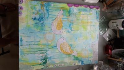 dream big painting art in progress technique
