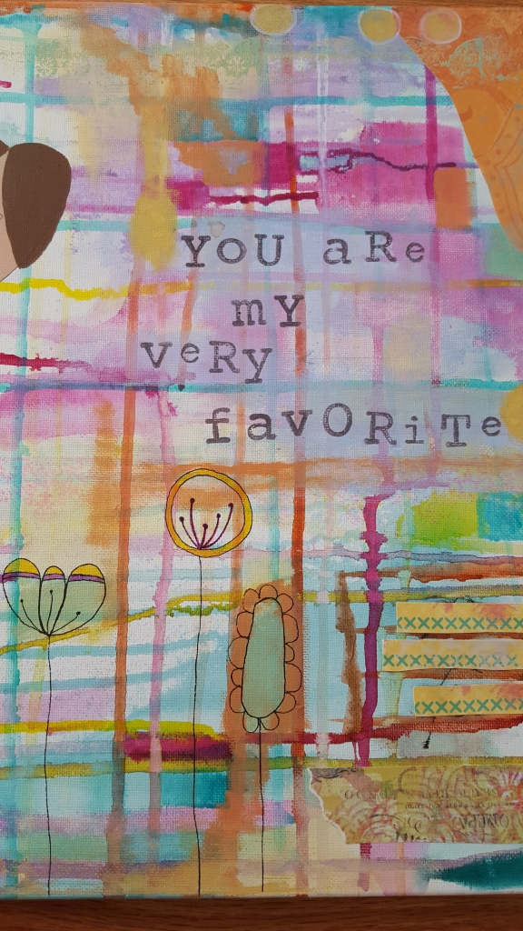 A snippet of my painting, you are my very favorite