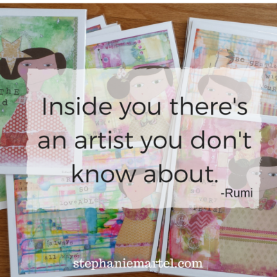 We are all artists creating our life. What are you intentionally manifesting today? Click through for other quick inspiration.