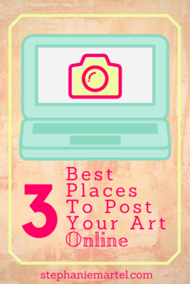 Click through and find out the 3 best places to post your art online to get more views!