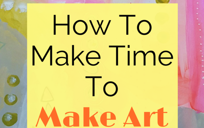Click through to get 7 simple ways you can make time to make art. Because sometimes life can get in the way of doing even our most favorite things! Come on over and check out the 7 simple ways to make art happen.