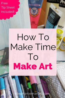 Click through to get 7 simple ways you can make time to make art. Because sometimes life can get in the way of doing even our most favorite things! Come on over :-)