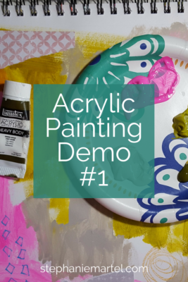 I made my first acrylic painting demonstration and it was so much fun! Short and sweet, click through to check it out.